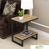 沙發邊櫃 簡約客廳小茶幾邊角桌迷你角櫃沙發櫃邊櫃玻璃小邊幾角幾臥室邊桌  快速出貨