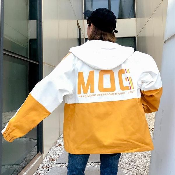 棒球外套 夾克 拼色嘻哈寬鬆港風外套
