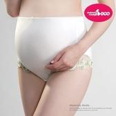六甲村 荷風綠高彈性蕾絲孕婦褲 (加大A)