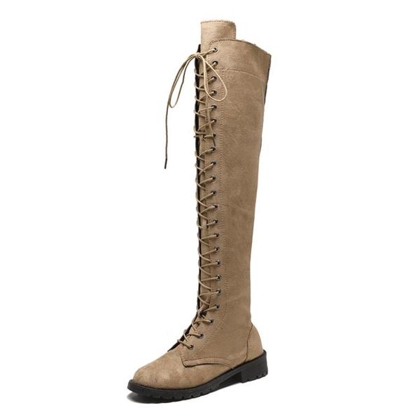 膝上靴 2019秋季新款馬丁靴女英倫風過膝長筒靴女高筒靴騎士機車靴子女【快速出貨八五折】