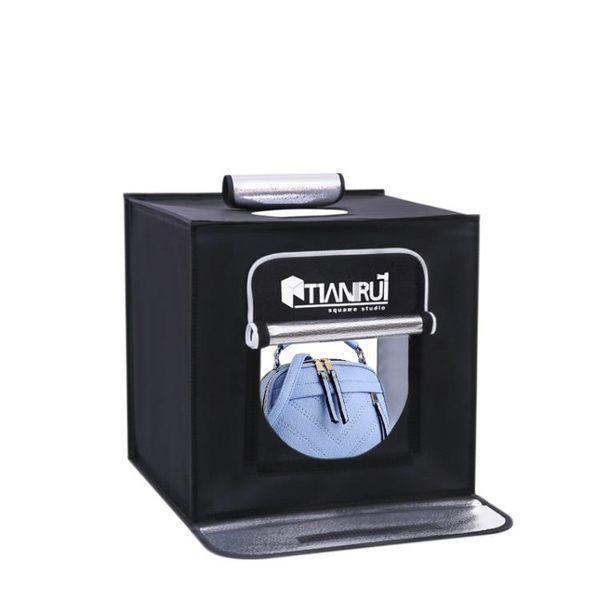 攝影燈 led天銳50cm攝影棚攝影燈套裝攝影器材柔光箱背景紙攝影道具 MKS春節狂購特惠