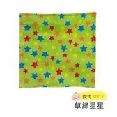 ☆愛兒麗☆美國Baby Paper 寶寶響紙安撫方巾-草綠星星