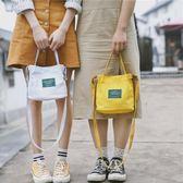 帆布袋 包 仙女包包女2019新款韓版潮文藝帆布包水桶百搭手提包單肩斜挎小包