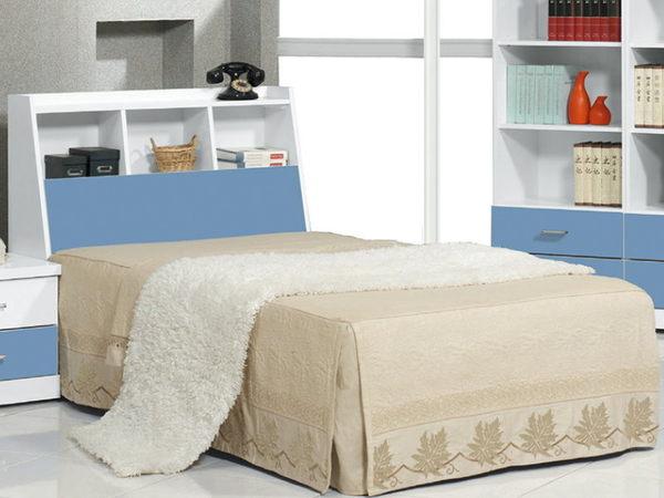 床架 床頭箱.床頭片 CV-177-6 青少年藍白3.5尺書架型床頭 (不含床底)【大眾家居舘】