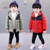 羽絨外套 寶寶冬裝新品兒童男童冬裝2-3-5-6歲潮拼色外套
