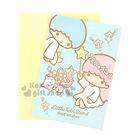〔小禮堂〕雙子星 萬用卡片《藍.貓咪.天...