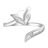 火狐貍鍍銀戒指 戒情侶指環韓國版 女飾品首飾 《小師妹》ps500