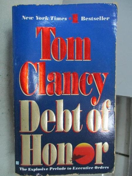 【書寶二手書T3/原文小說_MND】Debt of Honor_Tom Clancy