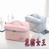 化妝箱 旅行便攜可愛少女化妝包女大容量多功能化妝品收納袋 BF9824【花貓女王】
