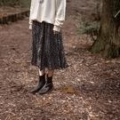 Queen Shop【03020788】自然細褶感碎花雪紡長裙 兩色售*現+預*