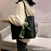 單肩包大容量女包包2020新款潮時尚手提托特包袋百搭大學生上課包 漾美眉韓衣
