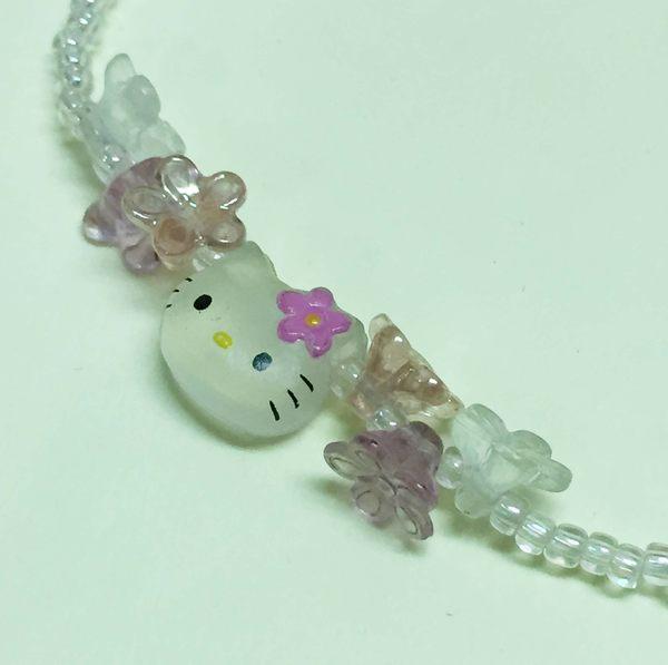 【震撼精品百貨】Hello Kitty 凱蒂貓~手環/手鍊-螢光手環-粉花造型