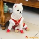 小狗狗新年鞋子泰寵物唐裝棉鞋軟底小型犬雪地靴【小獅子】