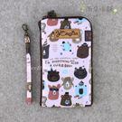 手機套 包包 防水包 雨朵小舖 M410-048 6吋雙拉Touch手機套-粉一起學英文造句03297