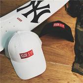 問題少年刺繡logo韓版休閒彎檐帽男女情侶鴨舌帽高爾夫棒球帽  巴黎街頭