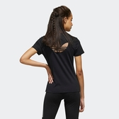 J-adidas TREFOIL 短袖 上衣 T恤 休閒 運動 白底 金標 三葉草 金屬感 女 後大LOGO 前小LOGO GH7779