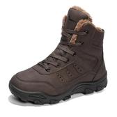 工地鞋男耐磨防水輕便鮀品skr棉鞋干活穿的冬鞋高綁耐臟登山