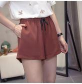 中大尺碼L-4XL韓版休閒寬鬆短褲新款大碼短褲女高腰寬鬆顯瘦休閒闊腿短褲R26-8968