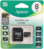 【全新-Apacer宇瞻】microSD 8GB記憶卡 micro SDHC 記憶卡 適用手機/平板/MP3可適用/行車記錄器