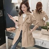秋新款韓版小個子風衣女英倫風寬鬆氣質中長款今年流行外套女 雙十二全館免運