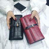 長款女士錢包多卡位手機方格錢夾手拿大容量皮夾 迪澳安娜