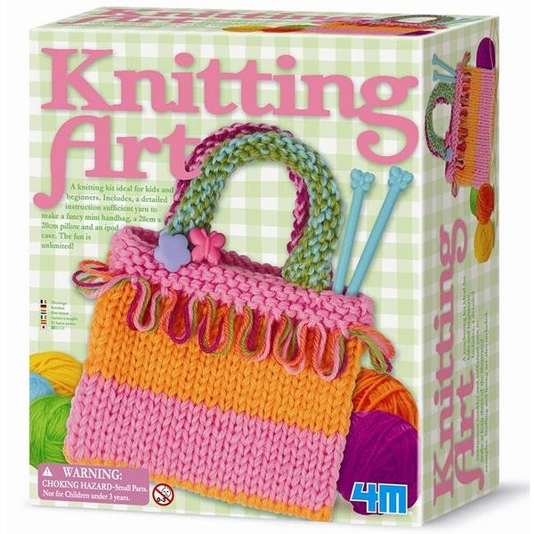 《4M美勞創作》彩虹編織袋 Knitting Art  ╭★ JOYBUS玩具百貨