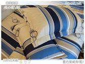 床罩全套(5尺/6尺)任選均一價/高級五件式100%純棉雙人/ivy精品『藍色夏威夷』☆*╮