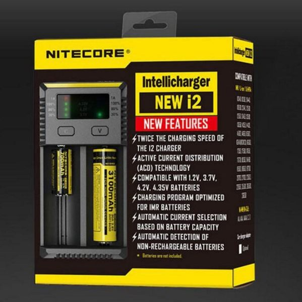 全館免運費【電池天地】NITECORE NEW i2智能充電器