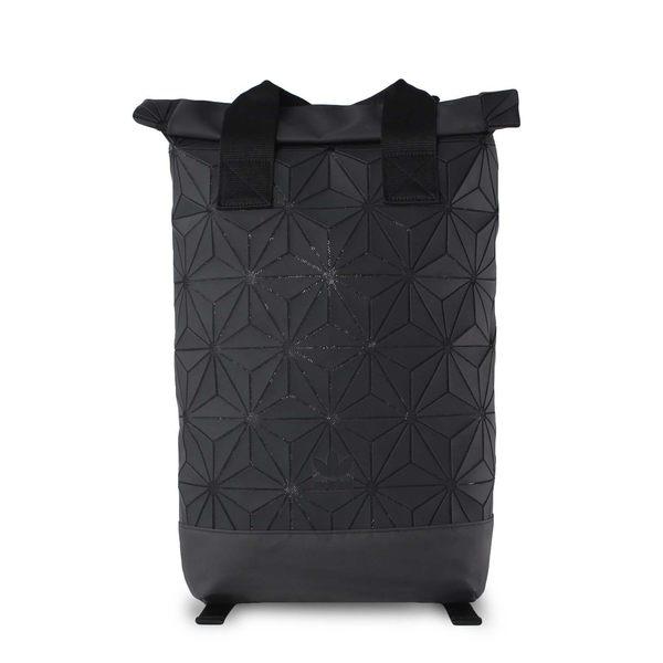 【折後$2880】adidas ORIGINALS 3D ROLL TOP 三宅一生 菱形 後背包 黑色 休閒 DH0100