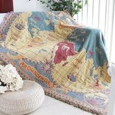 客廳軟地毯全蓋沙發毯巾 美式鄉村世界地圖 線毯子掛毯防塵罩套叢林之家