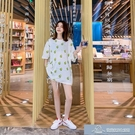 新款夏裝韓版簡約中長T學生寬松時尚白色上衣服體桖裙子 微愛家居生活館