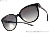 Tiffany&CO.太陽眼鏡 TF4093H 80013C (黑) 人氣經典迷人貓眼款 # 金橘眼鏡