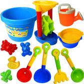 兒童沙灘玩具套裝小孩戲水沙漏 男女孩寶寶挖決明子挖沙鏟子工具WY