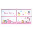 【震撼精品百貨】Hello Kitty 凱蒂貓~HELLO KITTY小熊橫式四抽收納盒-粉紅#38564