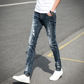 牛仔褲男士夏季薄款修身休閒秋季褲子