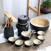 全自動功夫茶具套裝家用陶瓷懶人石磨泡茶喝茶道茶壺茶杯整套簡約igo 3c優購