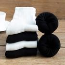 促銷 長襪子女黑色中筒襪ins潮毛巾襪男士純棉加厚白色長筒襪防臭吸汗
