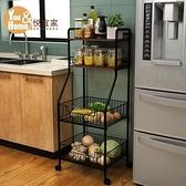 廚房收納架 廚房置物架收納神器落地多層蔬菜微波爐烤箱儲物鍋架子家用【快速出貨】