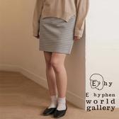「Spring」 千鳥格紋鬆緊腰膝上窄裙 - E hyphen world gallery