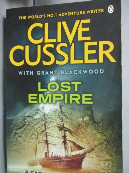 【書寶二手書T5/原文小說_WGQ】Lost Empire_Clive Cussler