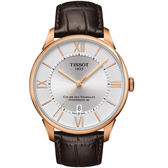 TISSOT天梭Chemin des Tourelles80小時動力儲存腕錶  T0994073603800 銀白