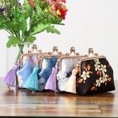 布藝diy 手工材料包學習套裝仿香云紗材料包10cm零錢包送短流蘇 - 歐美韓熱銷