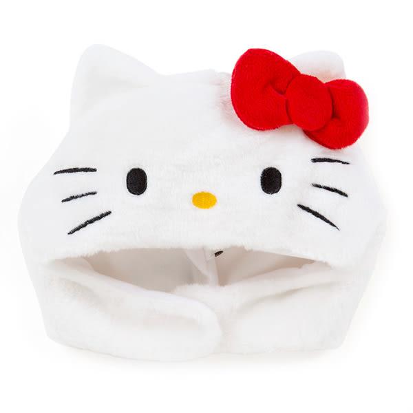 Hello Kitty頭套 立體造型毛茸茸白色套頭帽變裝派對/COSPLAY [喜愛屋]