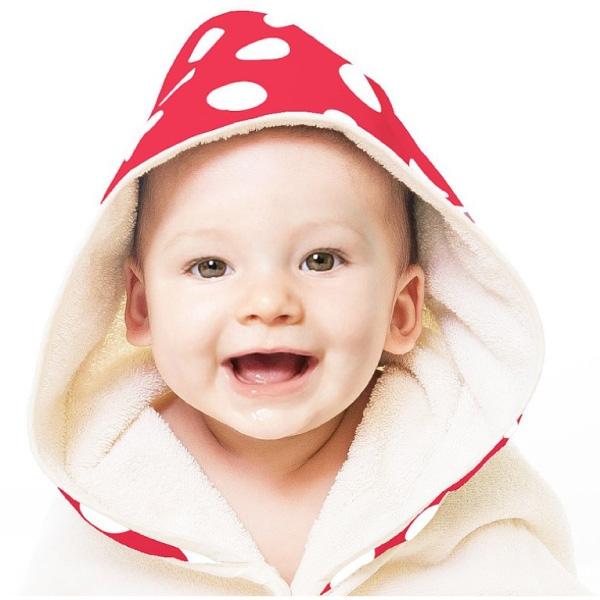 NIZIO 小蘑菇天然棉紗浴巾-聖誕限定色(2色可選)浴袍|包巾|圍裙