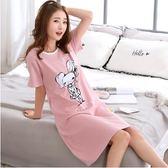 睡裙睡衣女夏季清新學生可愛寬鬆甜美短袖可外穿士夏天 愛麗絲精品