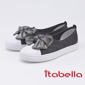 itabella.俏皮宣言 大蝴蝶結裝飾休閒鞋(9576-90黑色)