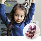 兒童髮夾。ROUROU童裝。韓國飾品女童亮片米妮蝴蝶結髮夾(可挑色) 0255-232