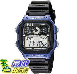 [美國直購] 手錶 Casio Mens AE-1300WH-2AV Watch with Black Resin Band
