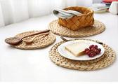 舍里 日式手工草編餐墊子隔熱墊 杯墊碗墊茶具鍋墊桌墊砂鍋墊壺墊·享家生活館