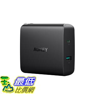 [美國直購] 充電器 AUKEY USB C Charger 46W USB-C Power Delivery 3.0 5V/2.1A Ports USB  MacBook/Pro